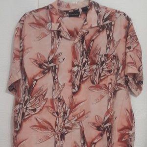 Ocean Pacific Men's XL 100% Silk Hawaiian Shirt